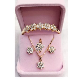 Harga Mei-Mei 4 in 1 Flower Crystals Jewelry Set
