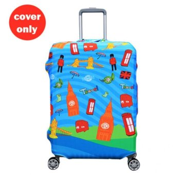 Harga (Cover only) Elite Luggage Cover/Suitcase Cover Large (London)