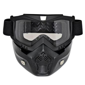SEC 00797 Uni Mask With Goggles (Black/Clear) Price Philippines
