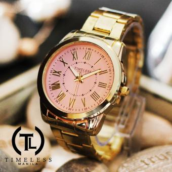 Timeless Manila Callie Roman Numeral Metal Watch (Old Rose) Price Philippines