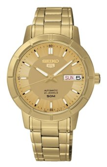 Harga Seiko Automatic Gold Stainless Steel Band Men's Watch Snk888K1