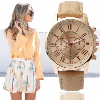 Geneva Women's Roman Leather Strap Watch (Beige) Price Philippines