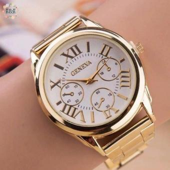 Geneva Roman Numerals Gold Steel-belt Watch (gold-white) Price Philippines