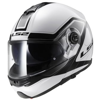 Harga LS2 FF325 Civik Helmet (White/Black) - 2XL