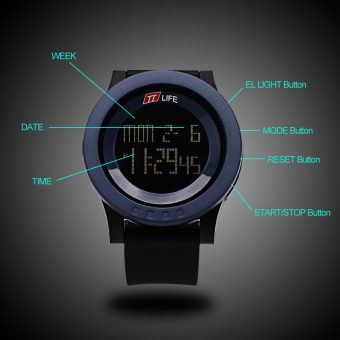 2016 Best Quality TTLIFE TS03 Sports Fashion Silicone Waterproof LED Digital Watch(blue) Price Philippines