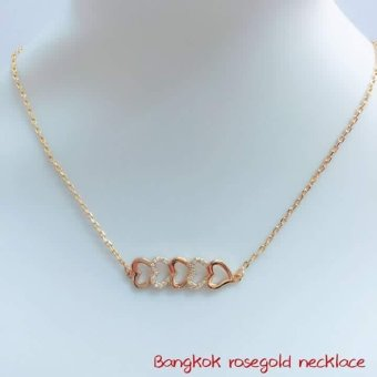 Harga 14k bangkok rose gold necklace