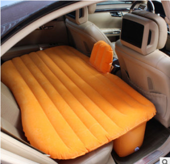 In bed car lathe car mounted inflatable bed