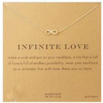INFINITE LOVE pendant necklace gold dipped