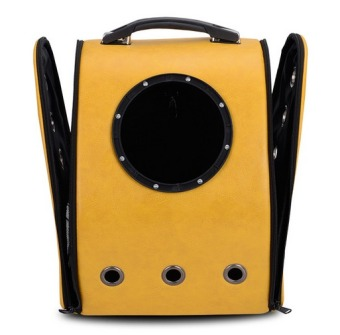 Innovative Travel Bag Bubble Backpack Pet Carriers for Cats and Dogs,Yellow - 5