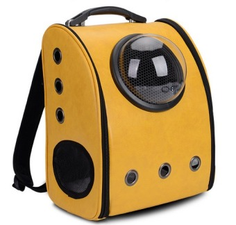 Innovative Travel Bag Bubble Backpack Pet Carriers for Cats and Dogs,Yellow