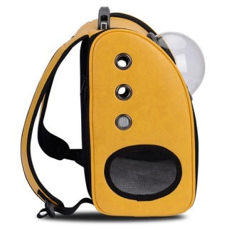 Innovative Travel Bag Bubble Backpack Pet Carriers for Cats and Dogs,Yellow - 2