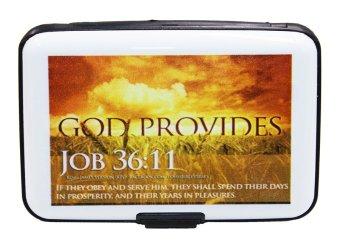 Inspire Bible Verses Card Holder Job 36:11 (White)