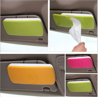 Installed Fixed Tissue Box Cover for Car