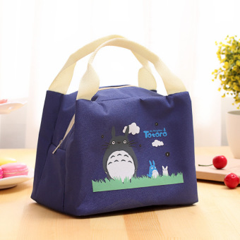 Insulated Thermal Lunch Box Storage Bag Bento Carry Totes PicnicPouch Container Blue
