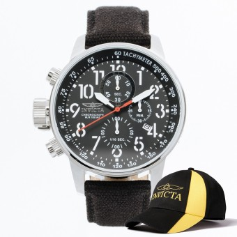 Invicta I-Force Men 46mm Case Black Rifle Strap Black Dial QuartzWatch 1512 & Baseball Cap Hat Price Philippines