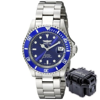 INVICTA Pro Diver Men 40mm Case Silver Stainless Steel Strap BlueDial Automatic Watch 9094OB w/ Impact Case B - intl Price Philippines