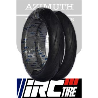 IRC Exato NR88 Yamaha TFX150/Honda CBR 150/Yamaha R15 Front and Rear Tubeless Tires Bundle (Front: 110/70-17 54S Rear: 130/70-17 62S)