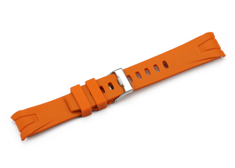iStrap 22mm Rubber Curved end Watch Band for Omega Seamaster PlanetOcean - Orange - Intl Price Philippines