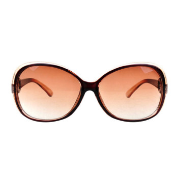 Jade Crystal Texture Gradient Casual Sunglasses Black+Brown