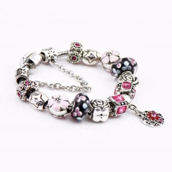 J&C Europe and the United States trendy 925 Silver Pandora charm bracelet crystal bracelet PDA-07 Price Philippines