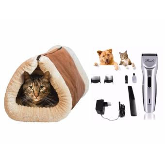 J&J Baoli Pet Hair Clipper Complete Set and Kitty Shack 2 in 1Tunnel bed with Mat