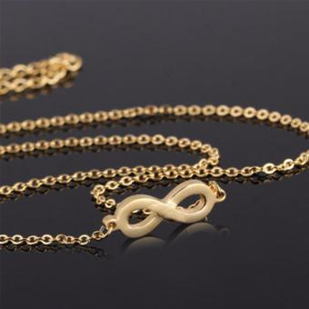 J&J Luxury Gold Infinity Necklace