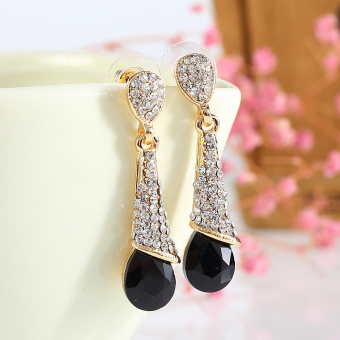 Japanese and Korean style Shishang crystal earrings
