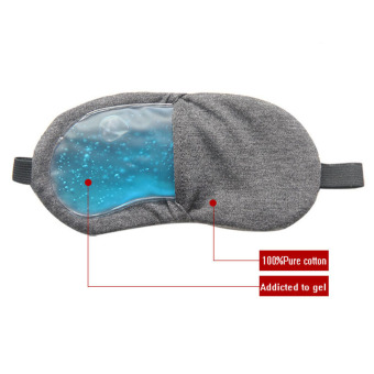 JER FASHION Holiday Travel Gel Eye Sleeping Mask Nap Eye ShadeBlindfold for Relaxing Blue
