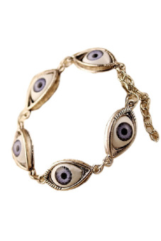 Jetting Buy Chain Bracelet Women Fashion Lucky Evil Eye Gold - picture 2