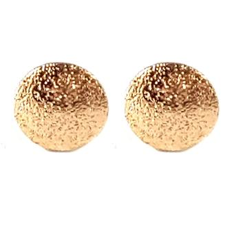 Jewelmine Circle Pave 18k Gold Plated Earrings