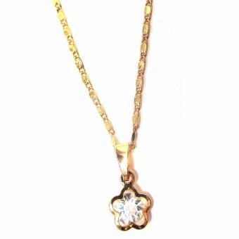 Jewelmine Flower Zircon Jewellery Set(gold) - 3