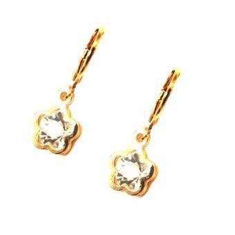 Jewelmine Flower Zircon Jewellery Set(gold) - 2