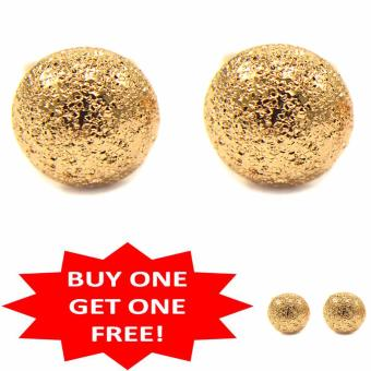 Jewelmine Half Circle 18k gold plated Earrings Buy One Take One(gold)