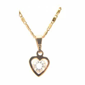Jewelmine Heart Zircon Jewellery Set (gold) - 3