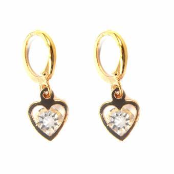 Jewelmine Heart Zircon Jewellery Set (gold) - 2