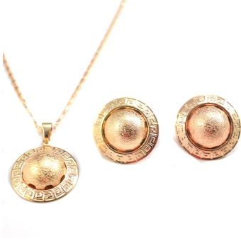 Jewelmine Huge Half Circle Bangkok Jewellery Set (18k Gold Plated)