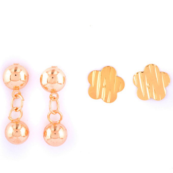 Jewelmine Isabella 10 Duo Earrings (Gold) - picture 2
