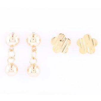 Jewelmine Isabella 90 Duo Earrings (Gold)
