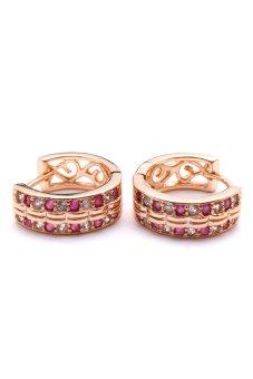 Jewelmine Phoebe 52 Cubic Zircon Earrings (Gold) With Free Jewelmine Isabella 23 Earrings (Gold) - picture 2