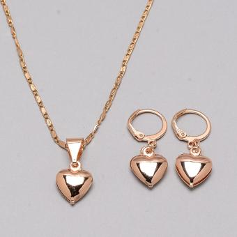 Jewelmine Pure Heart Gold Plated Jewelry Set (gold) - 4