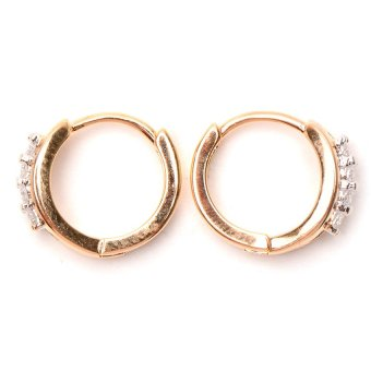 Jewelrista Center Ministone Hoop Earrings (Two Tone) - picture 2