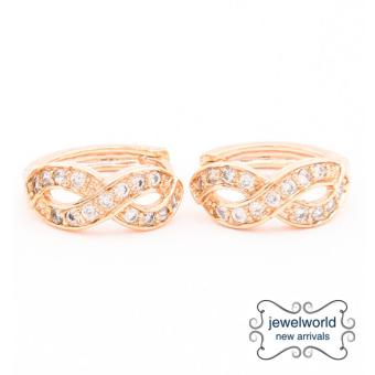 Jewelworld Infinity Cubic Zircon Earrings (gold) Price Philippines