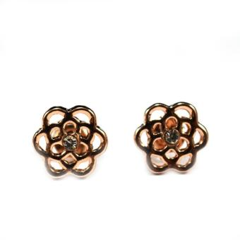 Jewelworld Love Flower Plated Earrings (gold)