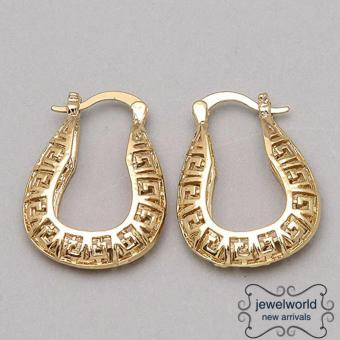 Jewelworld Vogue Maze Bangkok Plated Earrings (gold)