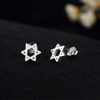 Jianyue promise star a few He Xingxing cool earrings silver stud