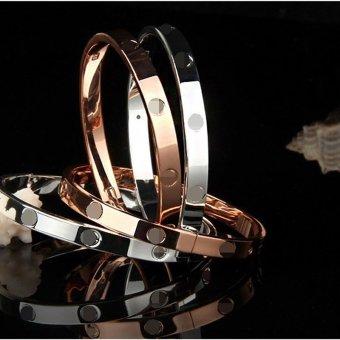 Jiayiqi Simple Men Bangle Silver Charm Bracelet - 2