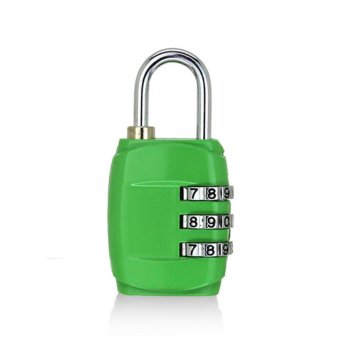 JinGle Padlock Password Lock for Travel Bag Backpack Handbag BoxLuggage - intl