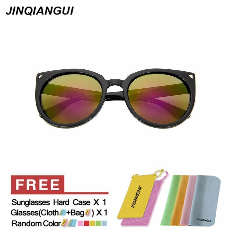 JINQIANGUI Sunglasses Women Cat Eye Retro Plastic Frame Sun Glasses Purple Color Eyewear .