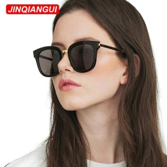 JINQIANGUI Sunglasses Women Square Plastic Frame Sun Glasses Black Color Eyewear Brand Designer UV400 - intl