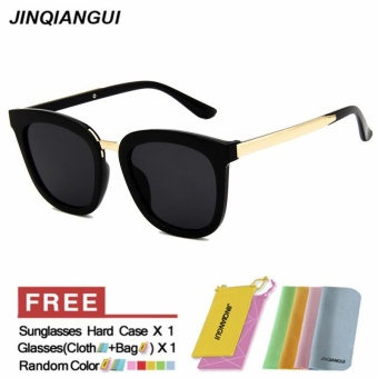 JINQIANGUI Sunglasses Women Square Plastic Frame Sun Glasses Black Color Eyewear Brand Designer UV400 - intl - 3